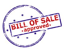 Bill of sale approved. Rubber stamp with text bill of sale approved inside,  illustration Royalty Free Stock Photo