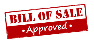 Bill of sale approved. Rubber stamp with text bill of sale approved inside,  illustration Royalty Free Stock Photography