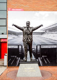 Bill Shankey statue at Anfield stadium, Liverpool, UK. LIVERPOOL, UNITED KINGDOM - APRIL 13, 2015:Bill Shankey statue at Anfield stadium, Liverpool, UK. Bill is Stock Images