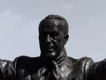 Bill Shankly Memorial. Bill Shankly statue outside anfield stadium in liverpool stock photo