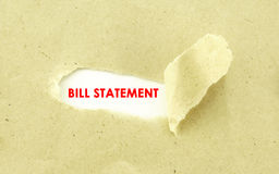 Bill Statement Fotografia Stock