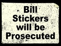 Bill Stickers Illustrazione di Stock
