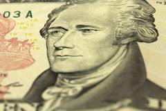 Bill ten American dollars Royalty Free Stock Photo