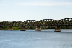 Bill Thorpe Walking Bridge - Fredericton - Canada Photos stock