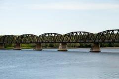 Bill Thorpe Walking Bridge - Fredericton - Kanada arkivfoton