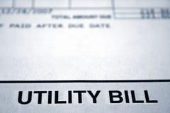 Bill utilitario Imagen de archivo libre de regalías