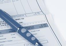 Bill-Zahlung Lizenzfreies Stockbild