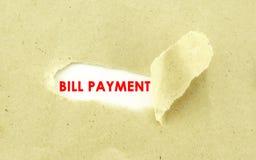 BILL-ZAHLUNG Stockfotos