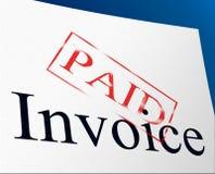 Bill zapłaty Wskazują Osadniczego bierzmowanie I równowagę Zdjęcia Stock