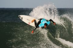 Billabong Pro Surfing Action Stock Photos