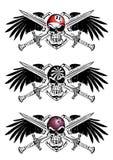 Billar, dardos y emblema del escudo de los bolos libre illustration