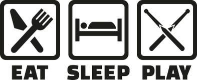 Billar - iconos de Eat Sleep Play Foto de archivo
