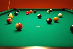 Billard 4 Photo libre de droits