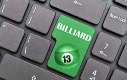 Billard auf Tastatur Stockfotos