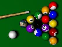 Billard avec le globe instaed d'une boule Images stock