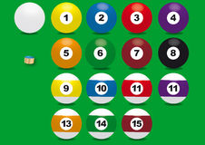 Billard ball. Graphic of all numbers with vector based royalty free illustration