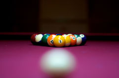 Billard balls royalty free stock photos
