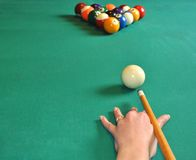 Billard balls Stock Photo
