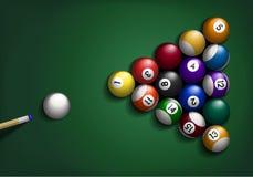 Billard Balls on Green Stock Images