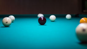 Billard-boule : beaucoup de boules Photo stock