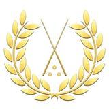Billard de sport de guirlande de laurier sur un fond blanc illustration libre de droits