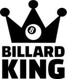 Billard King Eight Ball. Crown Stock Images