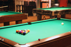 Billard pool table. This is a pool table. Usable for catalogue or sports journals stock image