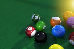 Billard Pool Table Balls Stock Images