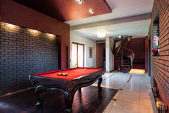 Billard in private interior Stock Photo