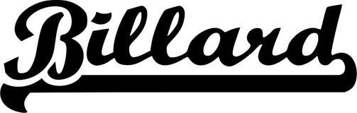 Billard Word royalty free illustration