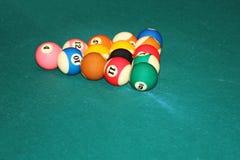 Billardballen stock afbeelding