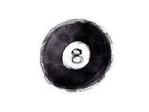 billardboll för 8 boll Arkivbild