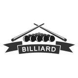 Billardclublogo-Schablonendesign Lizenzfreie Stockfotos