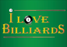 billards Photos libres de droits