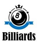 Billards et emblème de piscine Images libres de droits