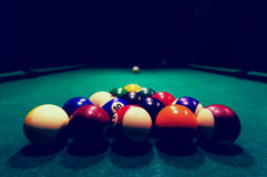 Billards pool game. Royalty Free Stock Image