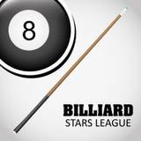 Billardspieldesign Lizenzfreies Stockbild