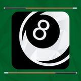 Billardspieldesign Lizenzfreie Stockfotografie