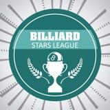 Billardspieldesign Stockfoto