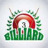 Billardspieldesign Stockbild