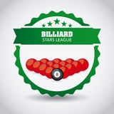 Billardspieldesign Lizenzfreies Stockfoto