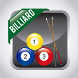 Billardspieldesign Stockfotografie