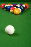 Billares de la piscina Imagen de archivo libre de regalías