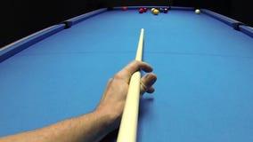 Billares de la piscina - rotura de nueve bolas de la señal POV