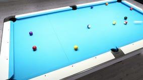 Billares de la piscina - timelapse de ocho bolas
