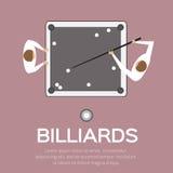 Billares, piscina, juego del billar Foto de archivo libre de regalías