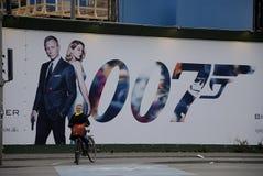 BILLBAORD 007幽灵影片 免版税图库摄影