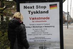 BILLBAORD FÜR GESCHÄFT IN DEUTSCHLAND Stockbilder