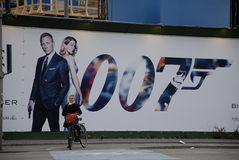 BILLBAORD 007 widma film Fotografia Royalty Free