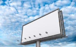 Billboar On A Cloudscape Stock Image